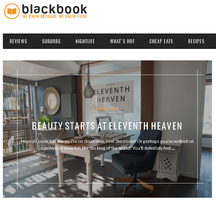 Eleventh Heaven - FEATURED @BLACK BOOK BRISBANE